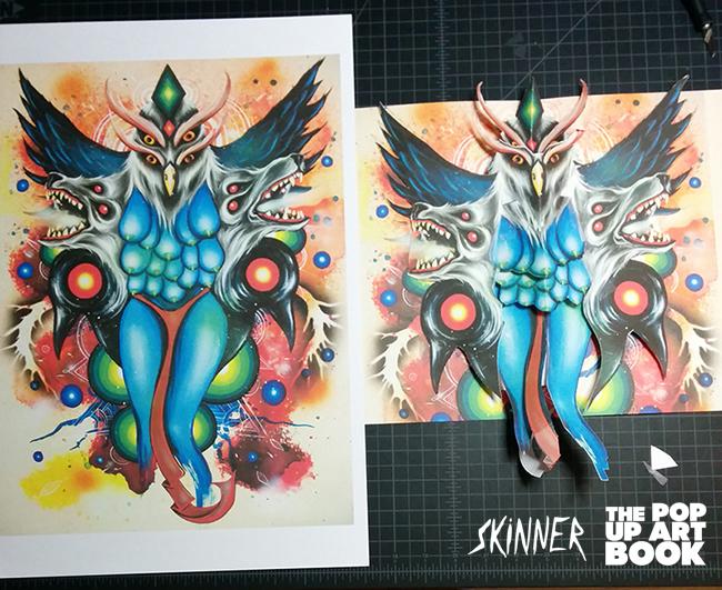 Skinner's Morrigan Lupus artwork in pop up!
