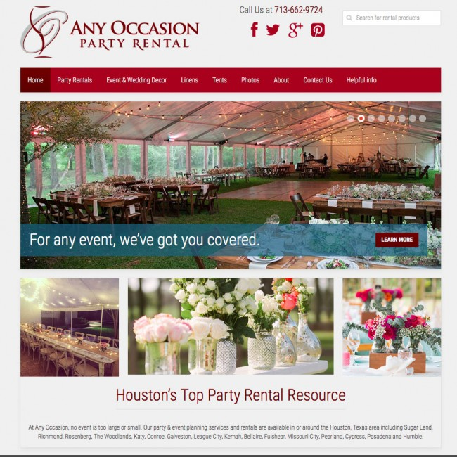 The Website For Houston Based Event Rental Company Any Occasion Party Rental  Has Been Launched At Http://www.anyoccasionpartyrental.com.