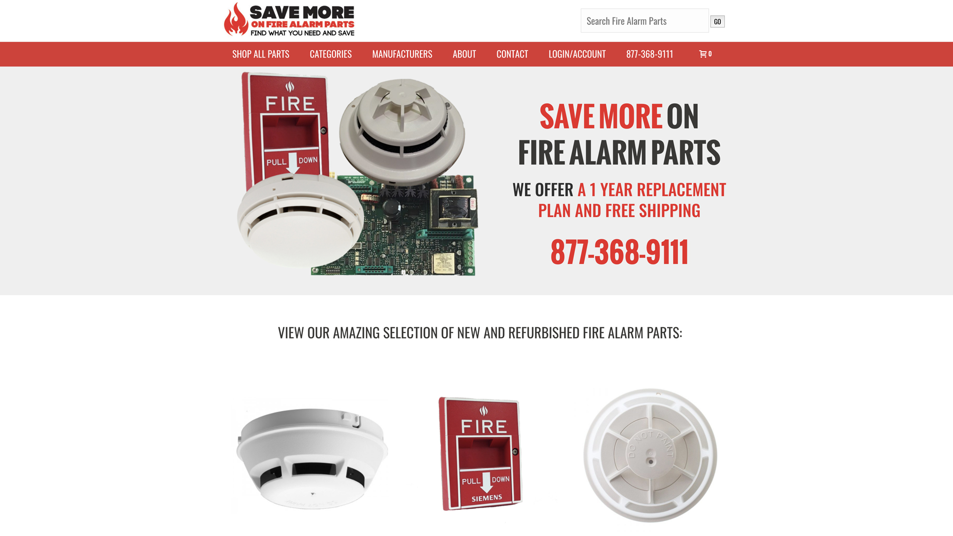 Recent Work: Save More on Fire Alarm Parts